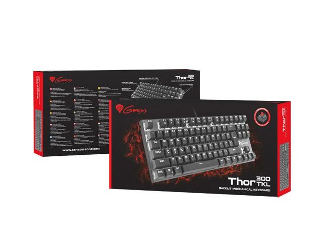 GENESIS THOR 300 TKL mechaninė klaviatūra US (Red)