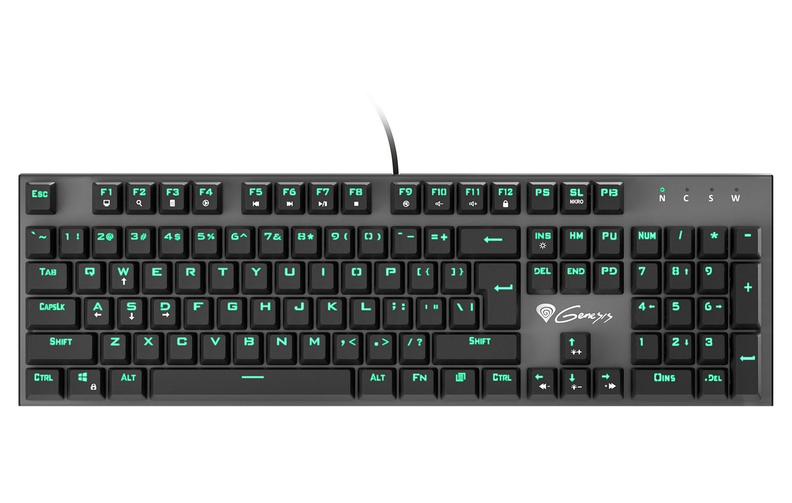 GENESIS THOR 300 mechaninė klaviatūra US (Blue)