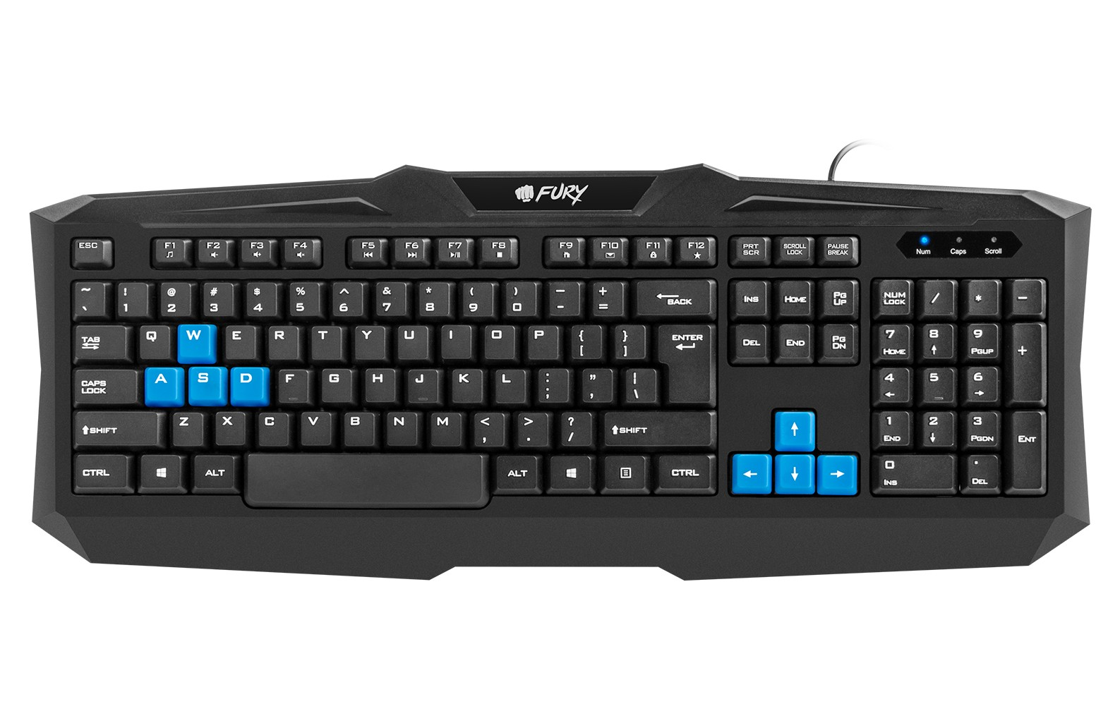 GAMING KEYBOARD FURY TYPHOON US LAYOUT WITH BACKLIGHT