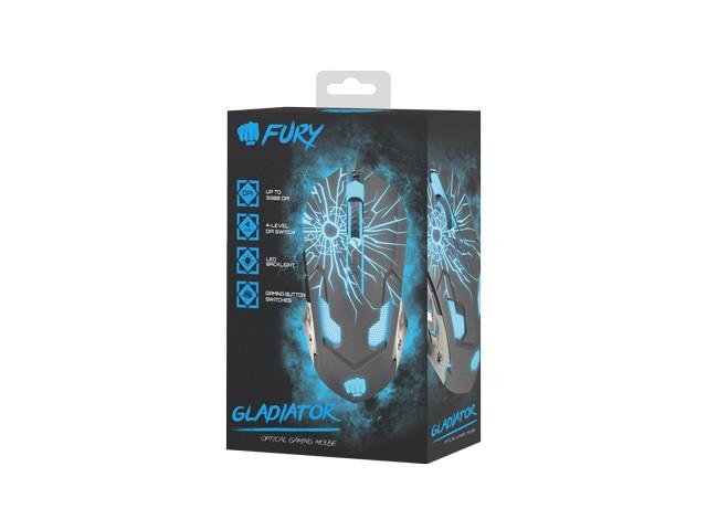 FURY GLADIATOR laidinė pelė | 3200 DPI