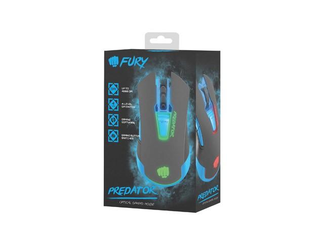 FURY PREDATOR laidinė optinė pelė | 4800 DPI