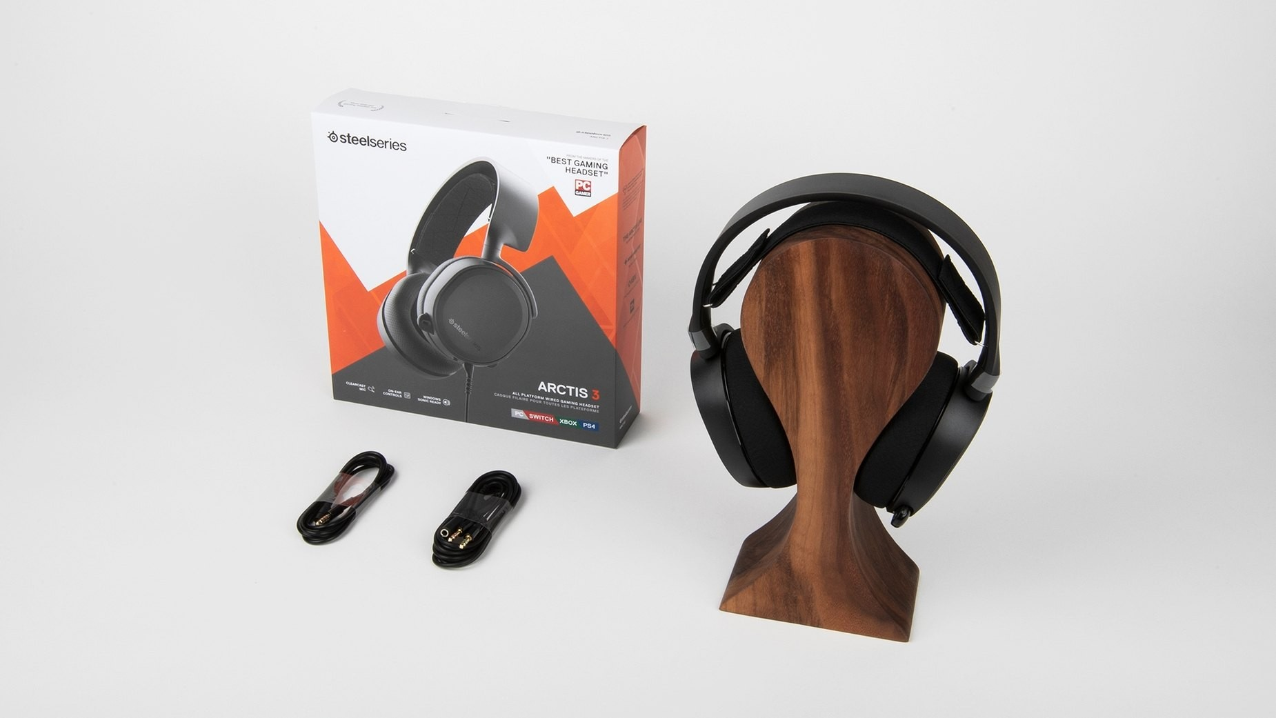 Steelseries Arctis 3 Black (2019 Edition) žaidimų ausinės | 3.5mm