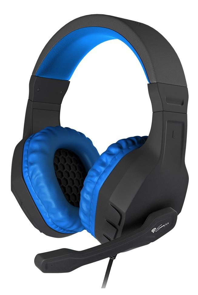 GENESIS ARGON 200 BLUE laidinės ausinės su mikrofonu | 2x 3.5mm