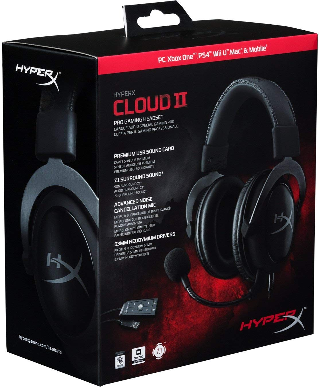HyperX Cloud II Gaming Headset - 7.1 Surround Sound