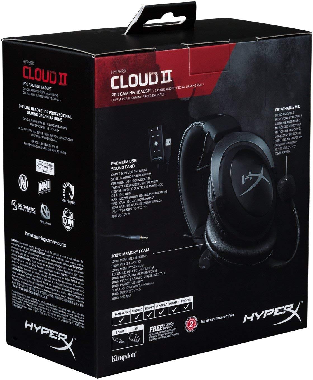 HyperX Cloud II Gun Metal laidinės ausinės 7.1 | USB/3.5mm