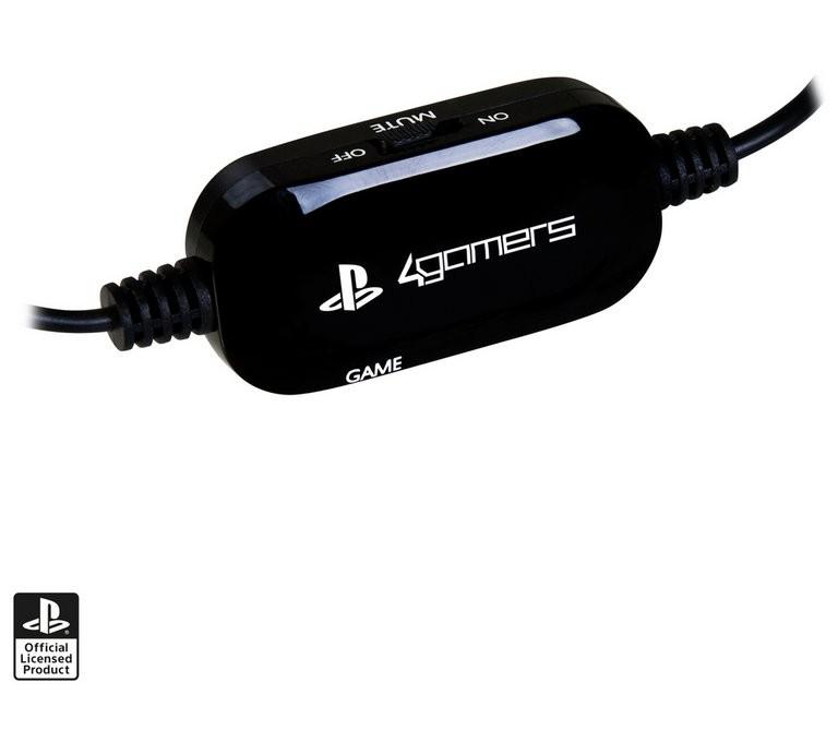 4Gamers PRO4-40 juodos laidinės ausinės | 3.5mm