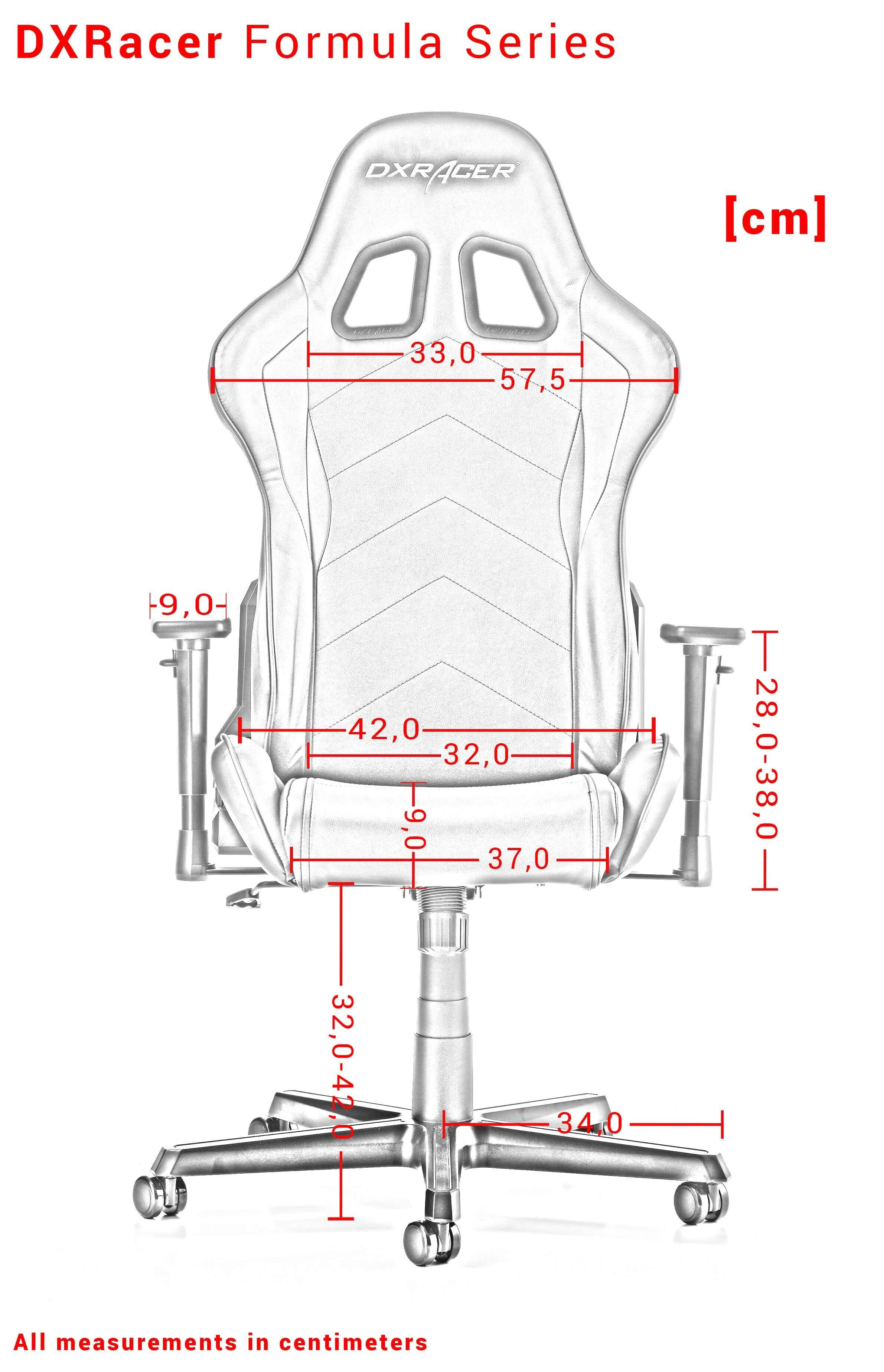 DXRACER FORMULA SERIES F08-NY geltona ergonominė kėdė