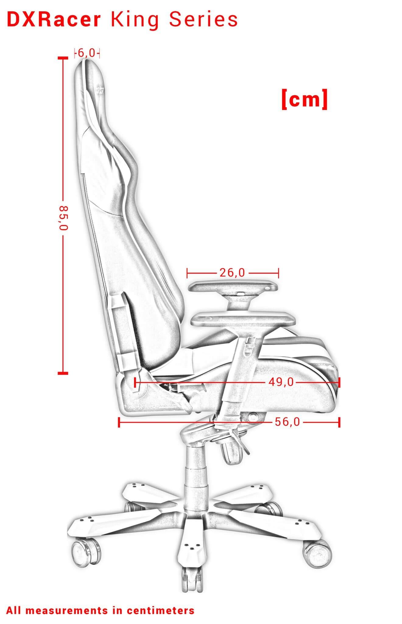 DXRACER KING SERIES K06-NR raudona ergonominė kėdė
