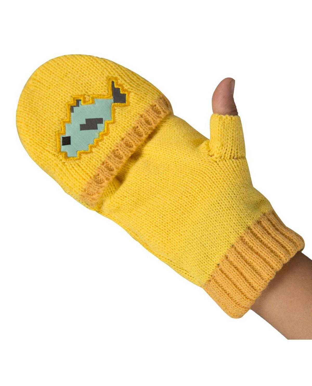 PIRŠTINĖS Minecraft Ocelot Mittens-One Size-Yellow