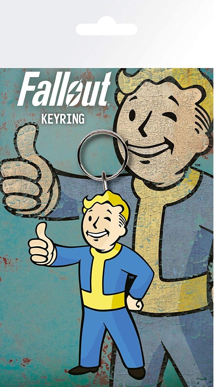 FALLOUT Vault Tech rubber keyring