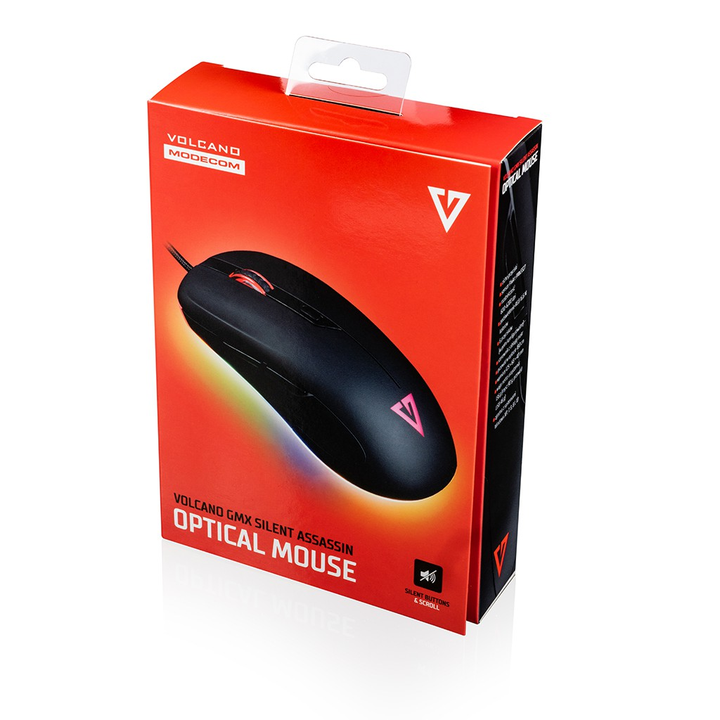 MODECOM Volcano GMX SILENT ASSASSIN wired optical mouse | 6200 DPI