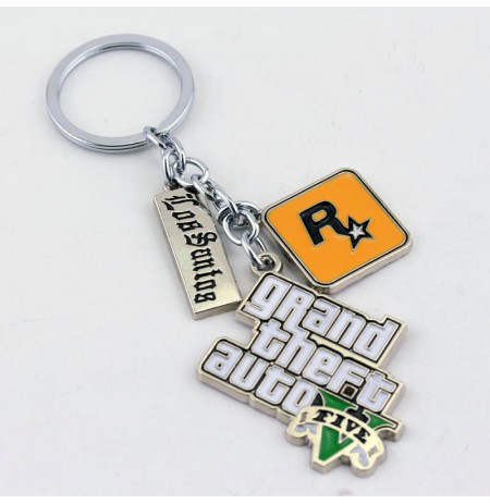 Grand Theft Auto V Logo metal keychain