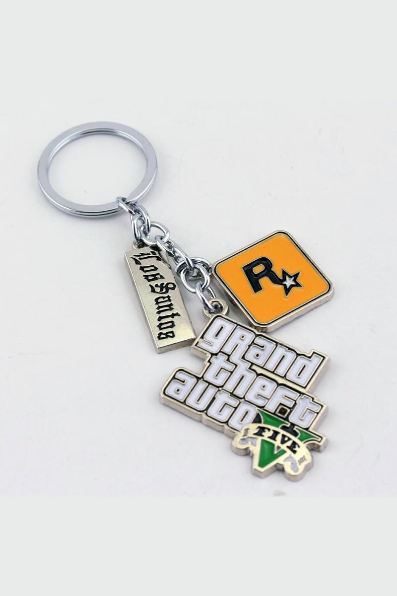 Grand Theft Auto V Logo metal keychain