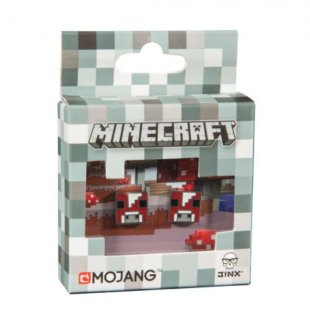 Minecraft Mooshroom Stud Earrings