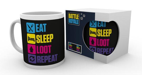 BATTLE ROYALE Eat Sleep Repeat mug