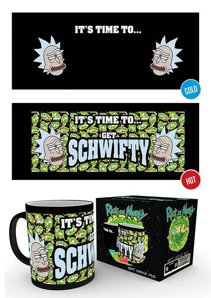 RICK AND MORTY Get Schwifty heat change mug