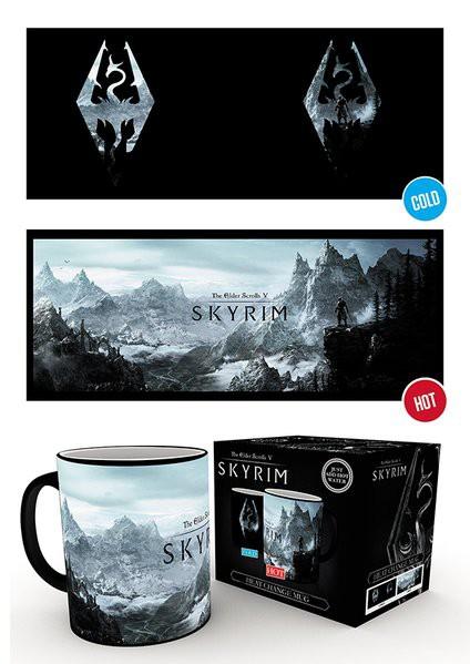 SKYRIM Dragon Symbol heat change mug