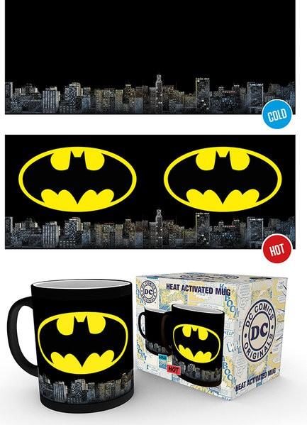 DC COMICS Batman Logo spalvą keičiantis puodukas