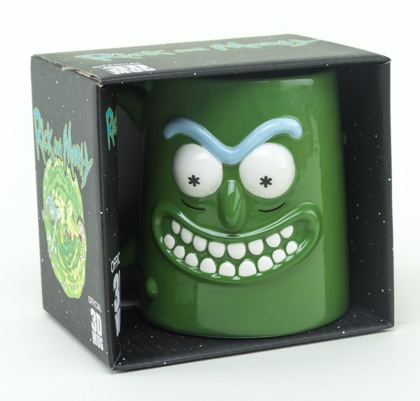 RICK AND MORTY Pickle Rick 3D puodukas