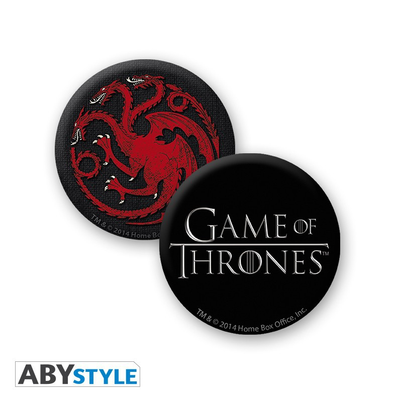 "GAME OF THRONES - Pck Mug + Keychain + Badges ""Targaryen"" gift box"