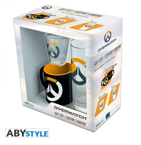 "OVERWATCH - Pck Glass 29cl + Shot Glass + Mini Mug ""Logo"" gift box"