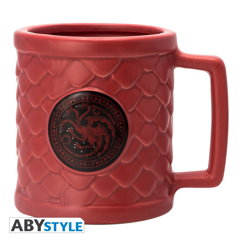 GAME OF THRONES Targaryen 3D puodukas