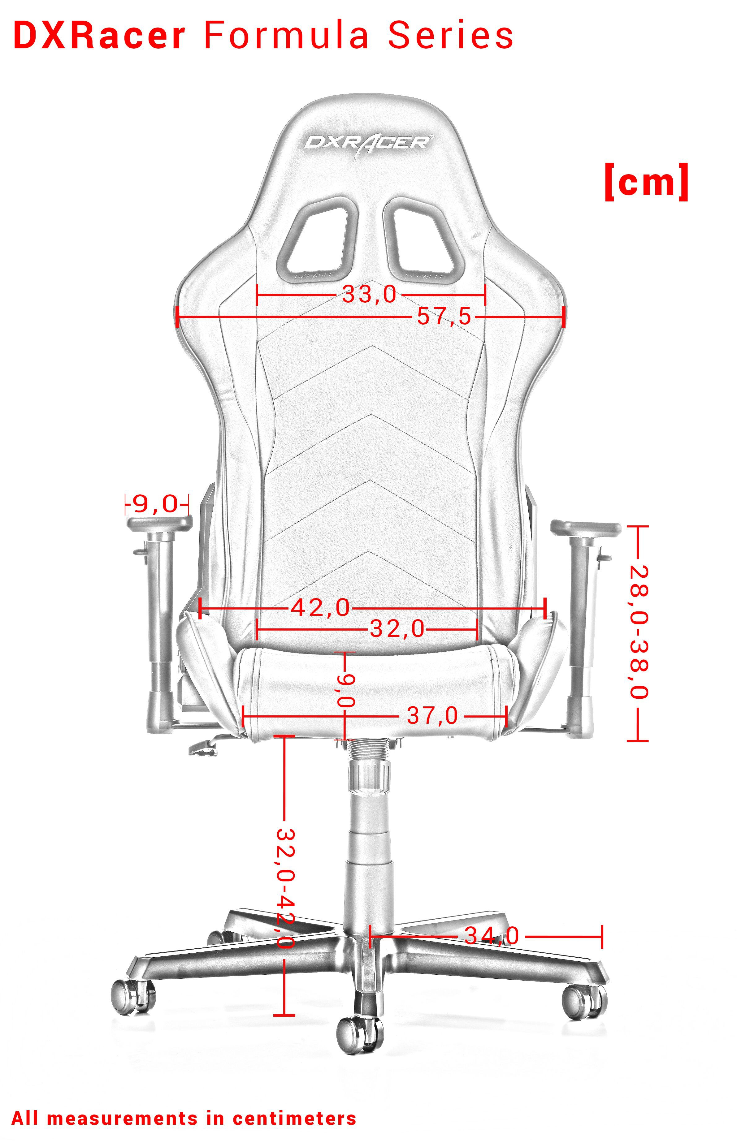 GAMING CHAIR DXRACER FORMULA SERIES F01-N BLACK FABRIC