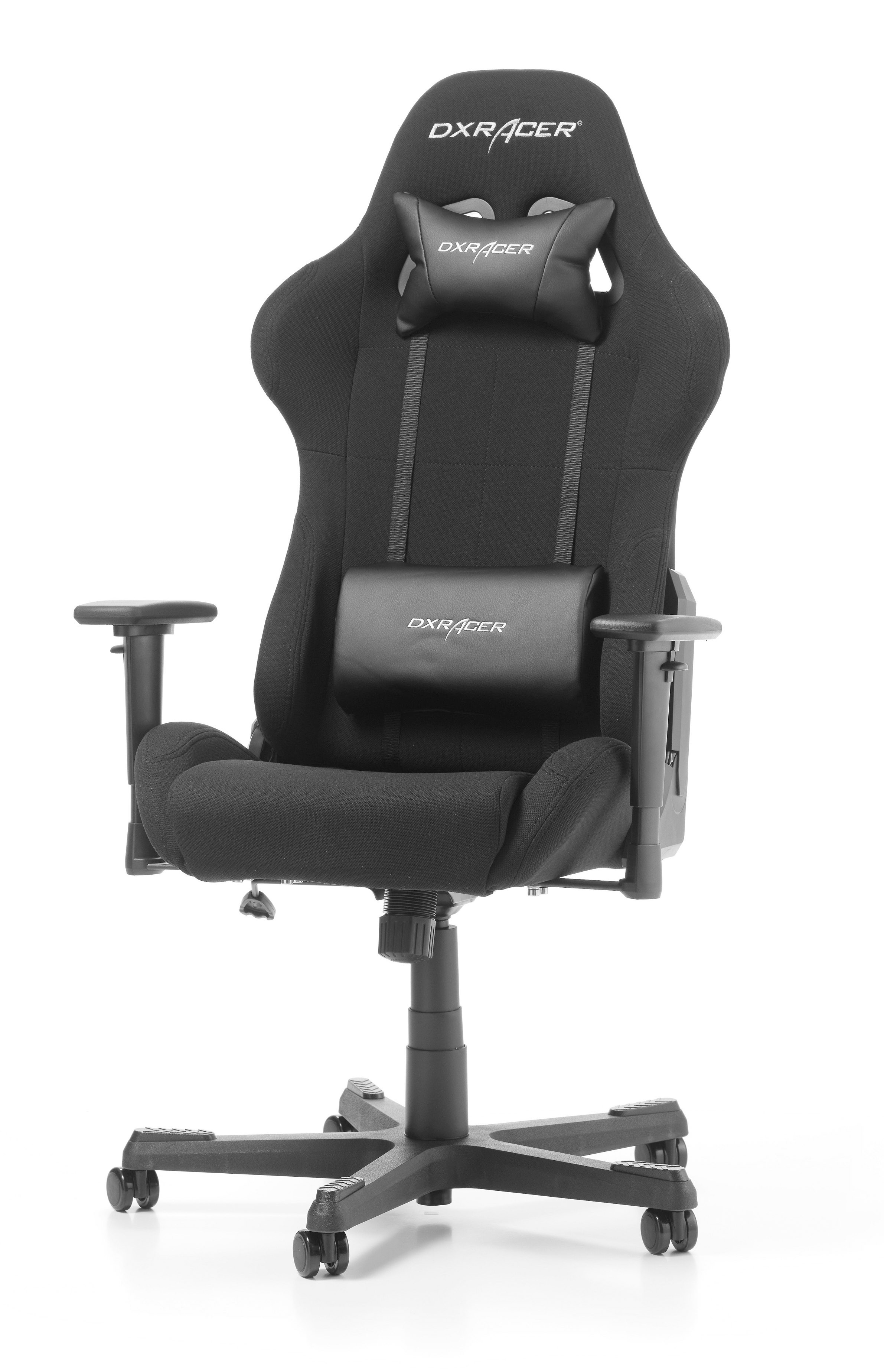 DXRACER FORMULA SERIES F01-N juoda ergonominė kėdė (medžiaga + PU)