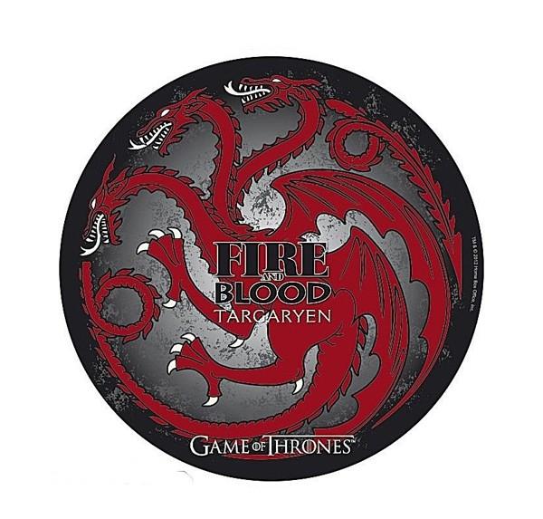 GAME OF THRONES Targaryen 210x210x3mm pelės kilimėlis