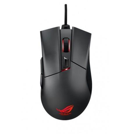 Asus ROG Gladius juoda laidinė žaidimų optinė pelė | 6400 DPI
