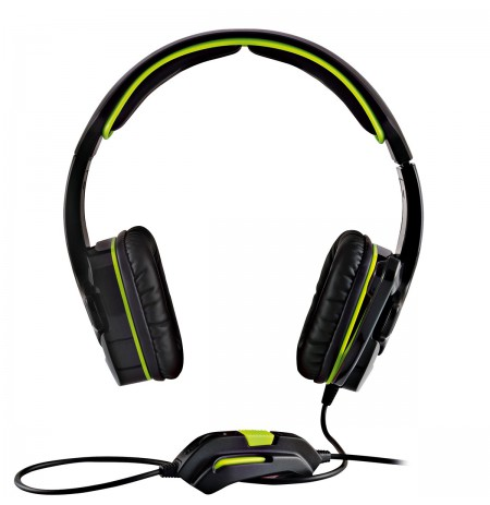 MODECOM ALIEN MC-829 Black/Green gamers headphones