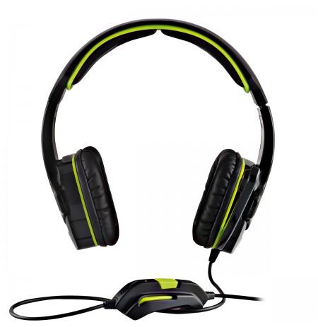 MODECOM ALIEN MC-829 žalios laidinės žaidimų ausinės