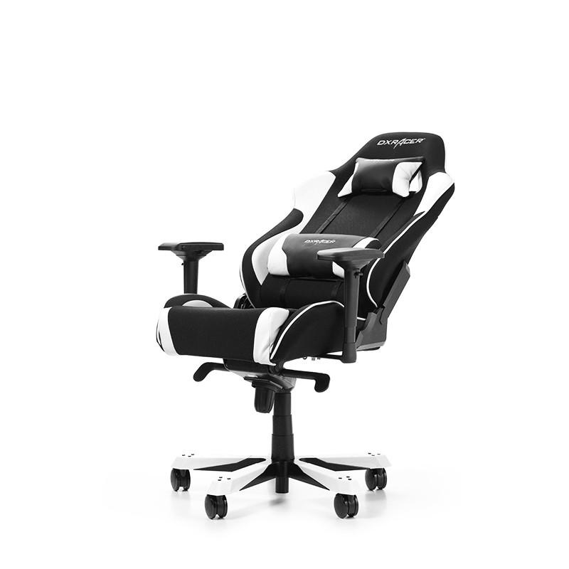DXRACER KING SERIES K11-NW balta ergonominė kėdė (Medžiaga + PU)