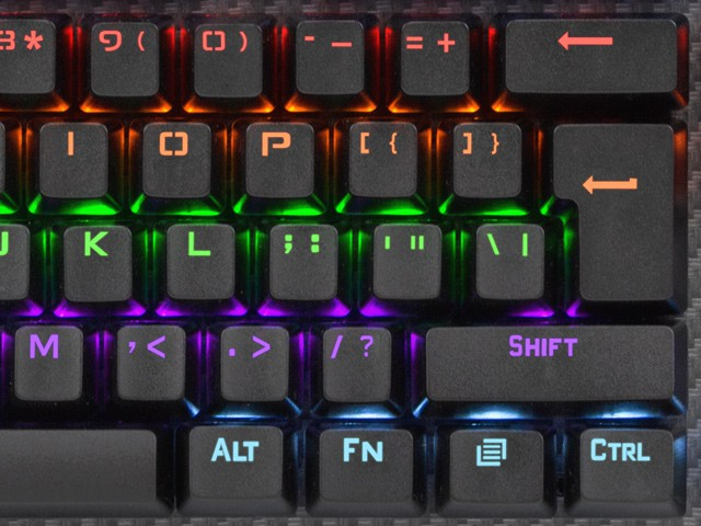 MECHANICAL GAMING KEYBOARD FURY TORNADO RAINBOW BACKLIGHT JIXIAN BLUE SWITCH US LAYOUT