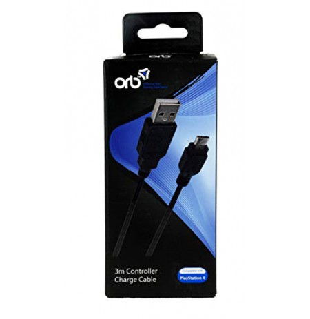 ORB USB To Micro USB Charge Cable 3m PS4