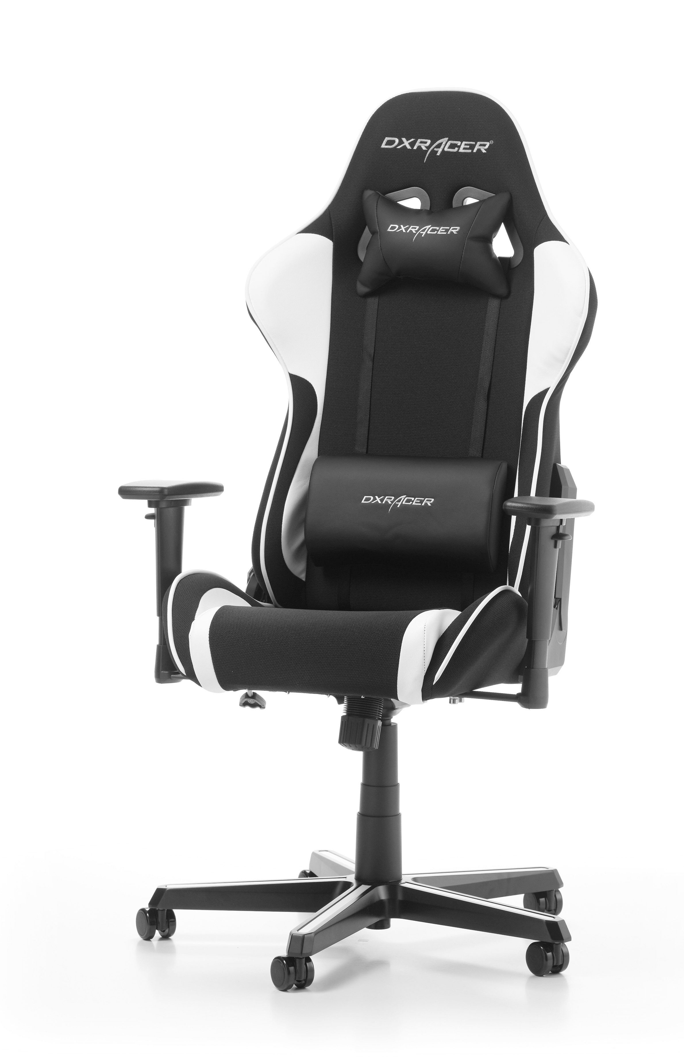 DXRACER FORMULA SERIES F11-NW balta ergonominė kėdė (medžiaga+PU)
