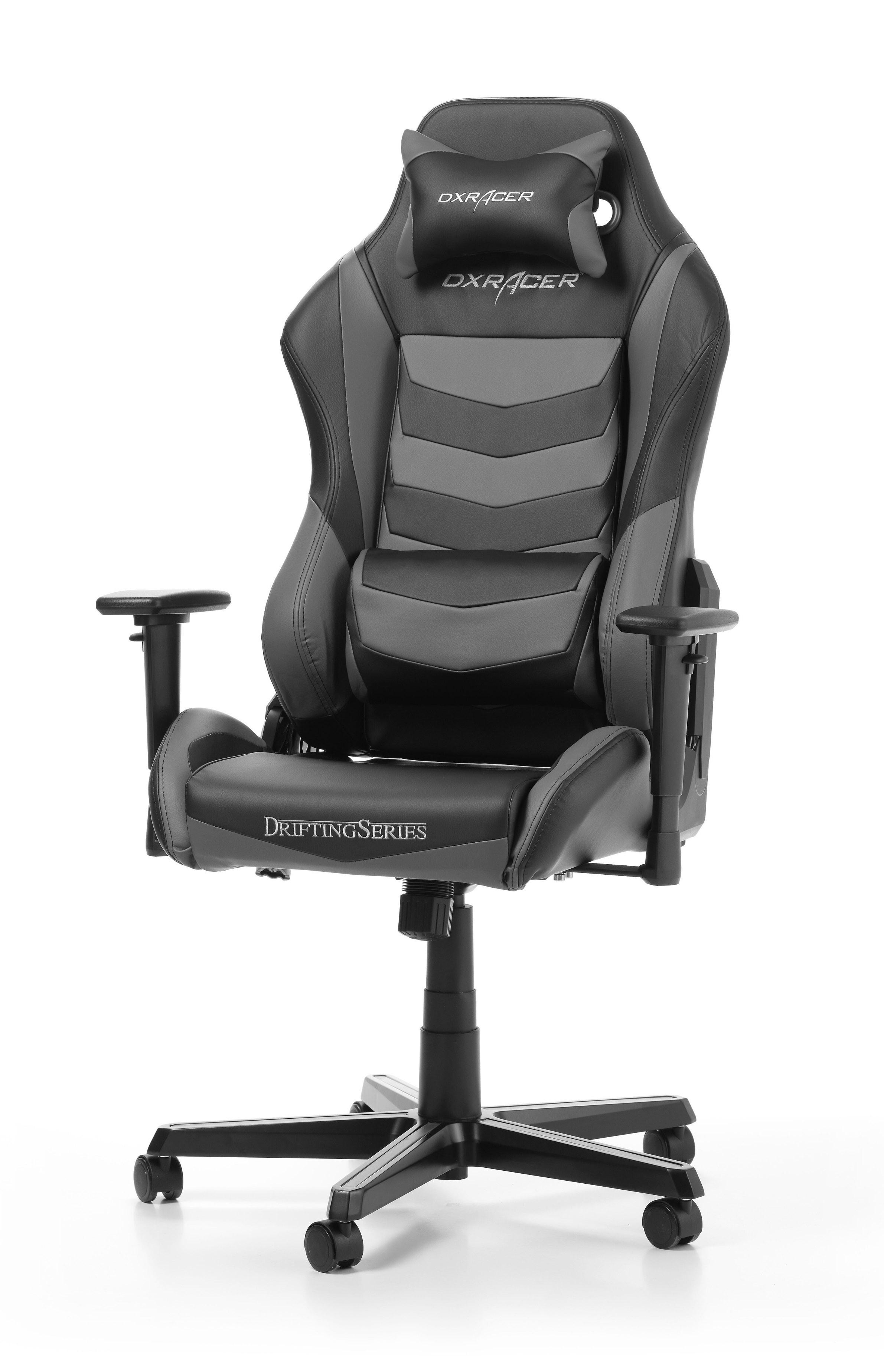 DXRACER DRIFTING SERIES D166-N juoda ergonmominė kėdė