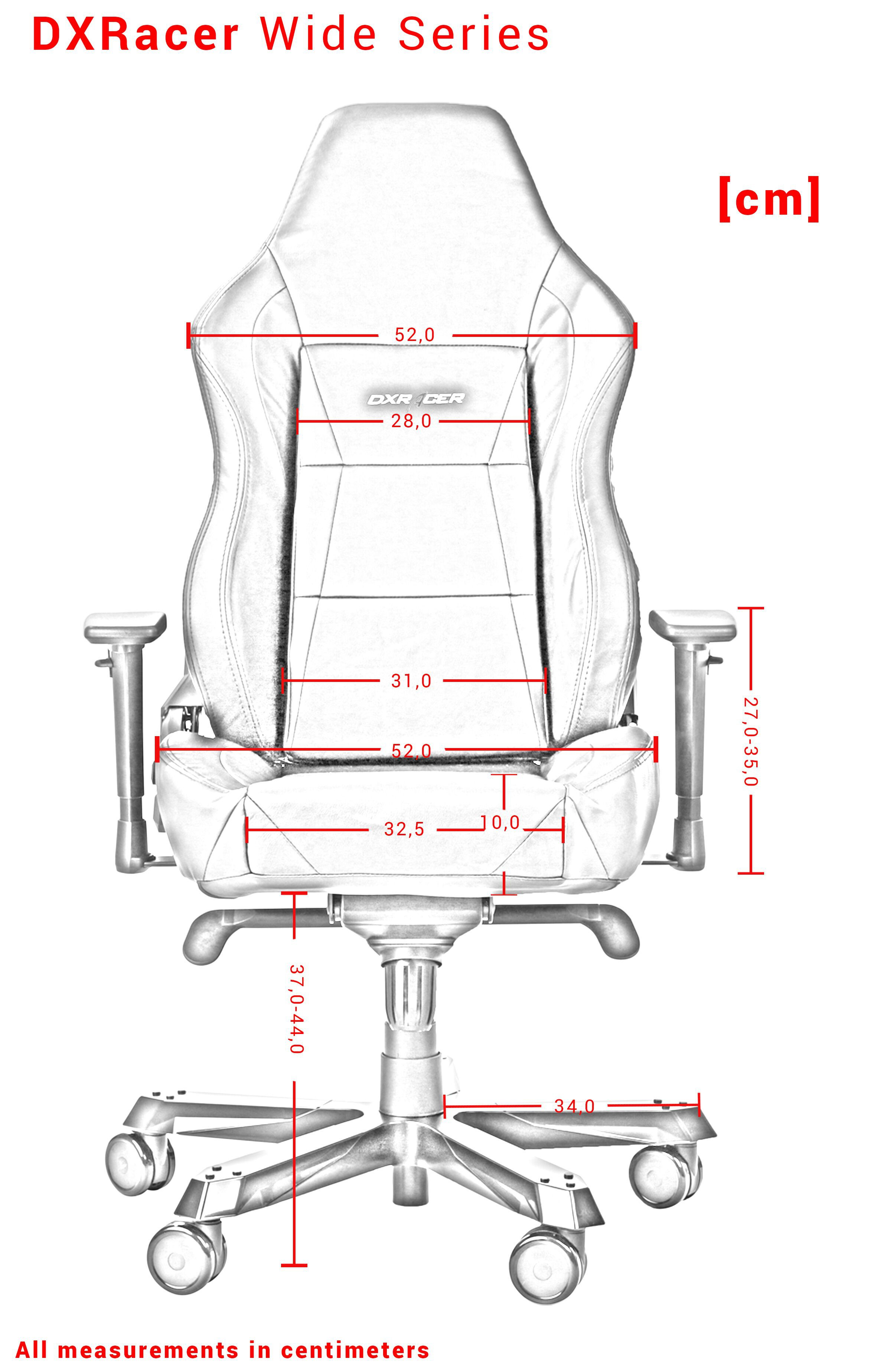 DXRACER WORK SERIES W0-NW WHITE GAMING CHAIR