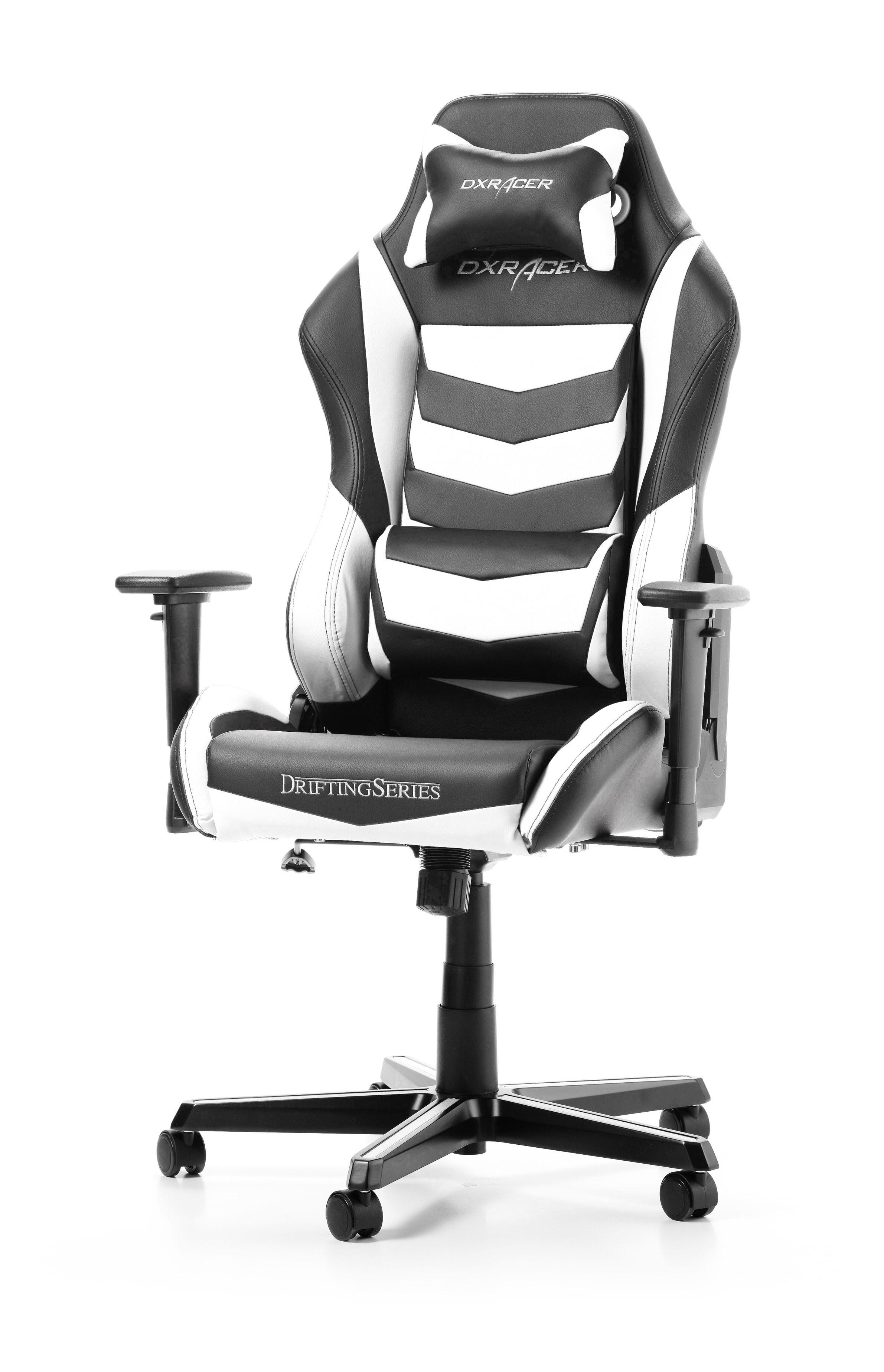 DXRACER DRIFTING SERIES D166-NW balta ergonmominė kėdė