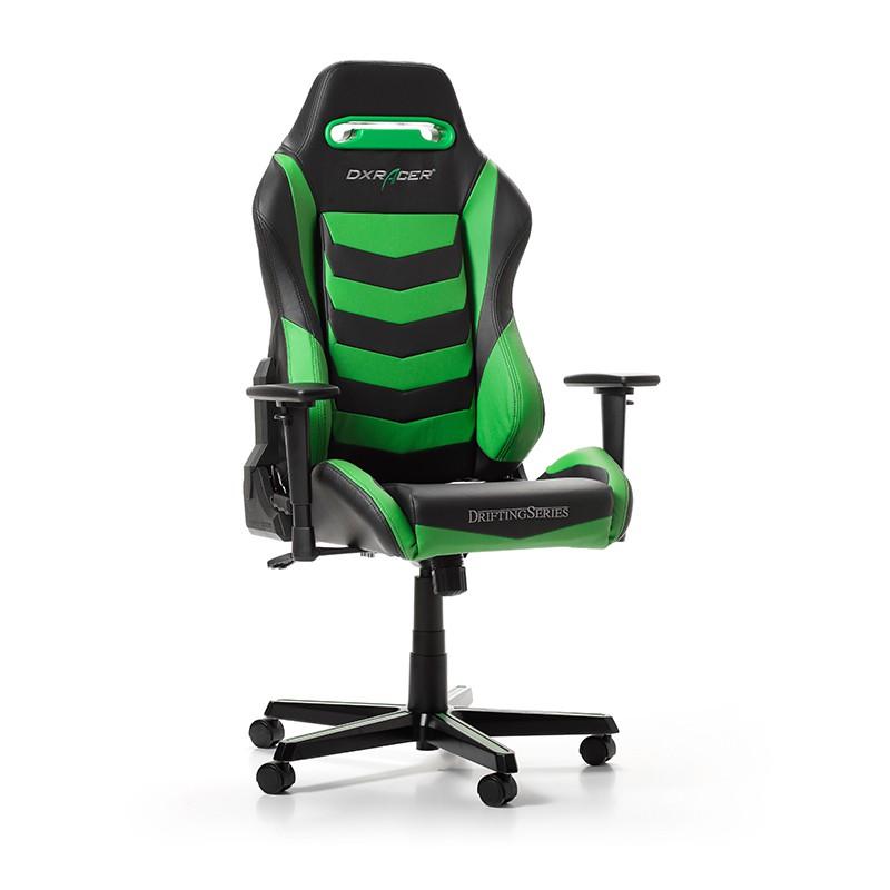 DXRACER DRIFTING SERIES D166-NE žalia ergonominė kėdė
