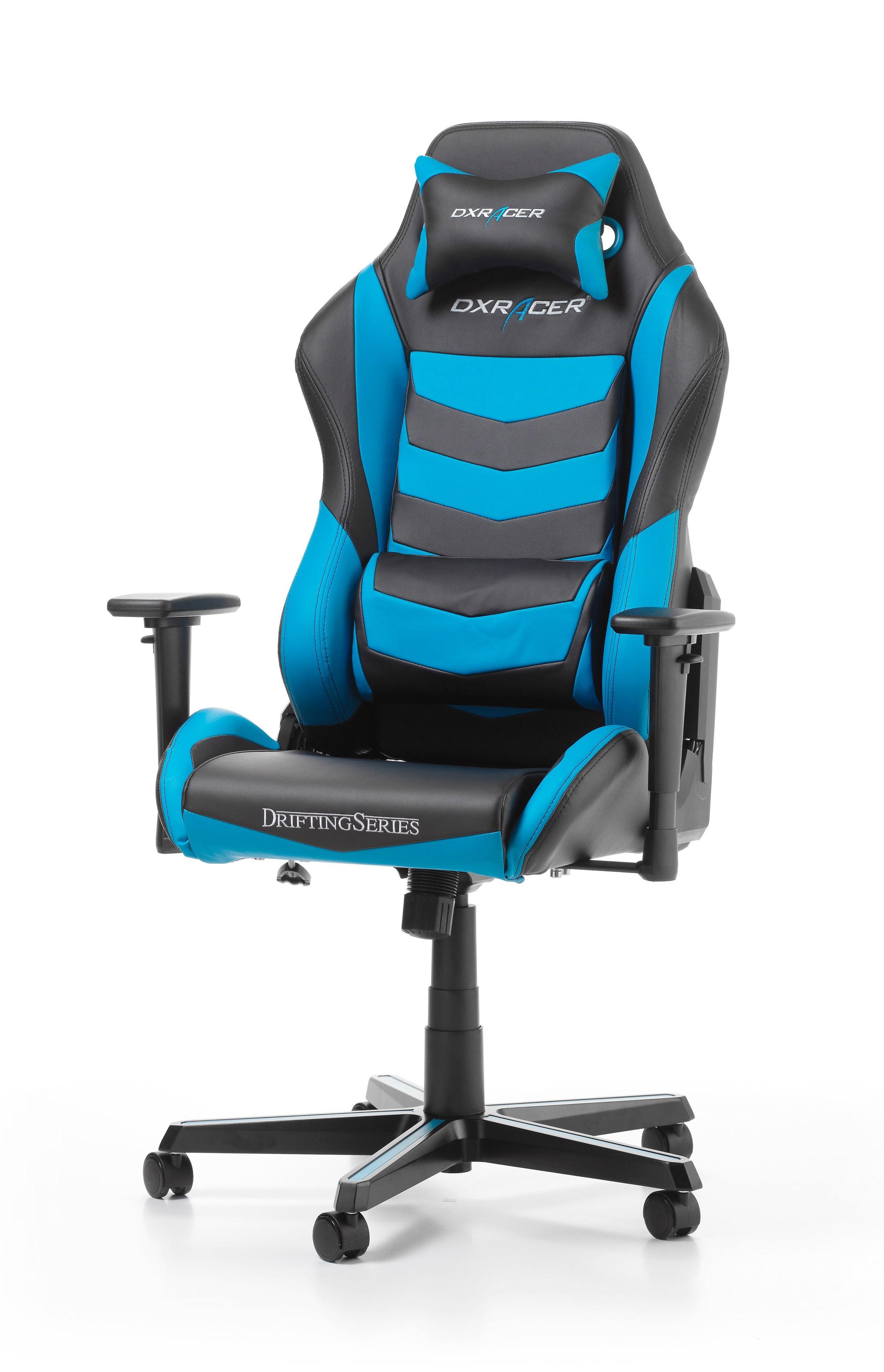 DXRACER DRIFTING SERIES D166-NB mėlyna ergonominė kėdė