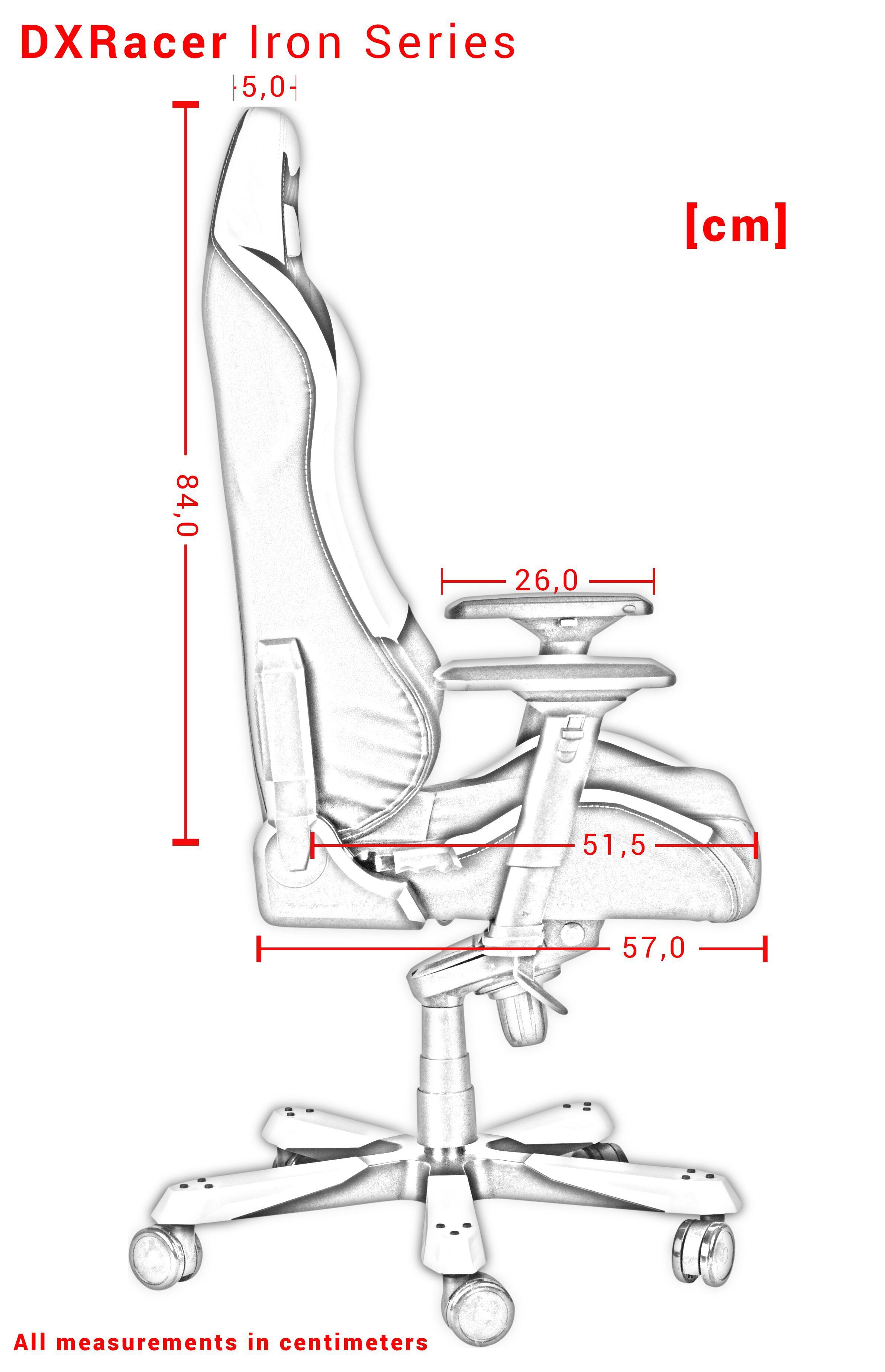 DXRACER IRON SERIES I166-NW WHITE GAMING CHAIR