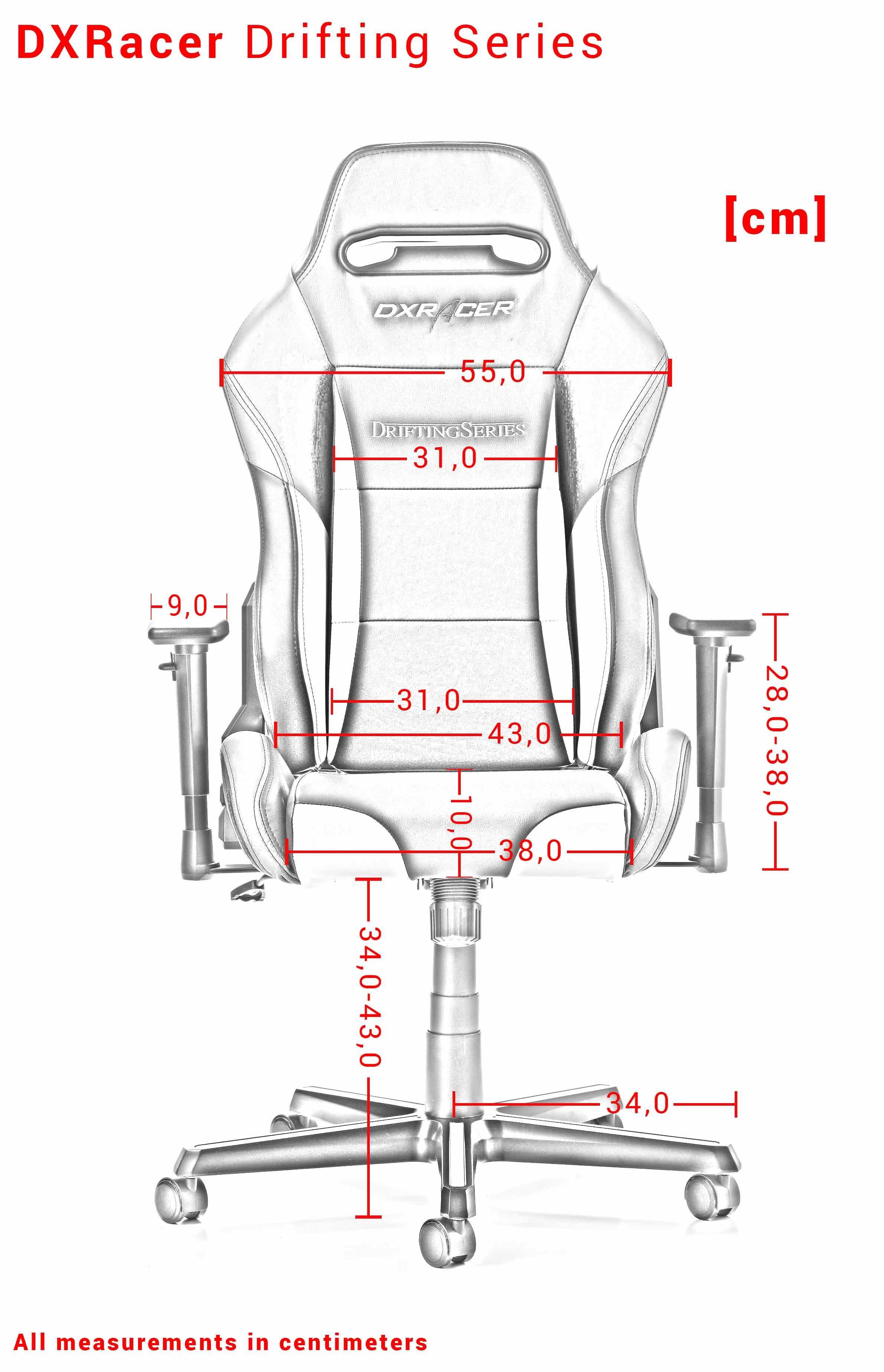 DXRACER DRIFTING SERIES D02-N BLACK GAMING CHAIR (Cloth + PU)