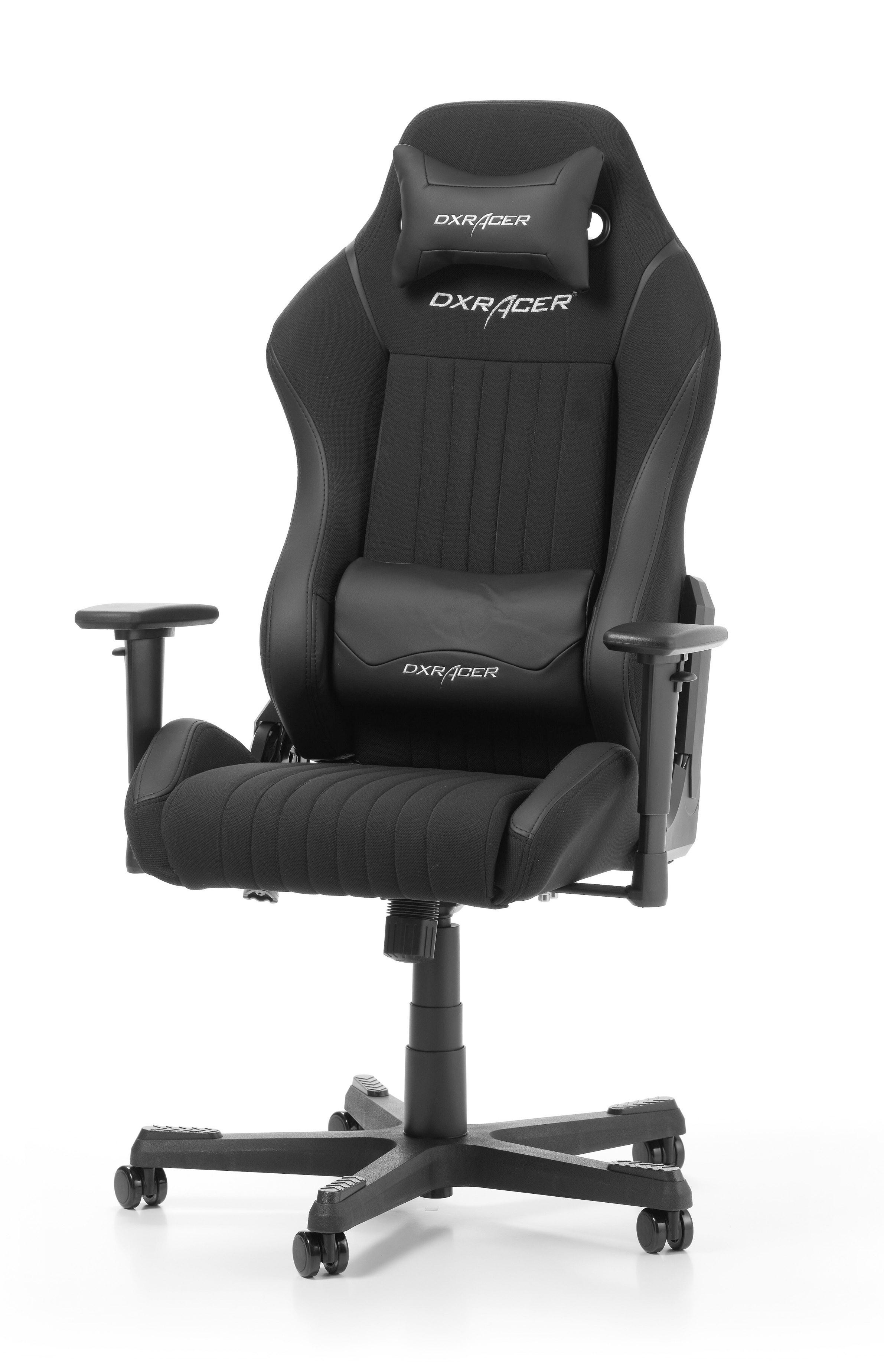 DXRACER DRIFTING SERIES D02-N juoda ergonominė kėdė (medžiaga + PU)