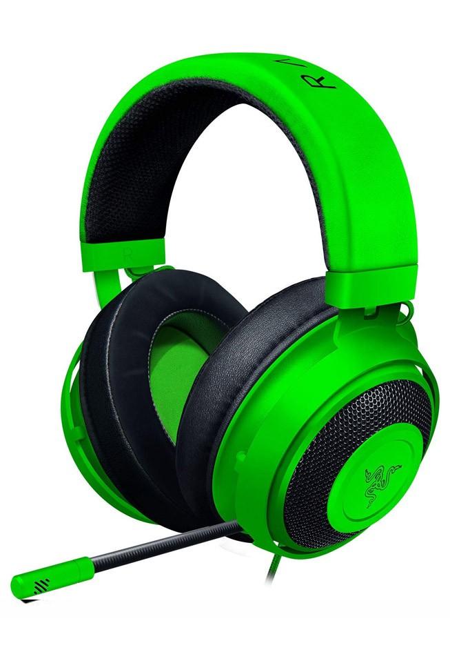 RAZER KRAKEN Multi-Platform žalios laidinės ausinės su mikrofonu | 3.5mm