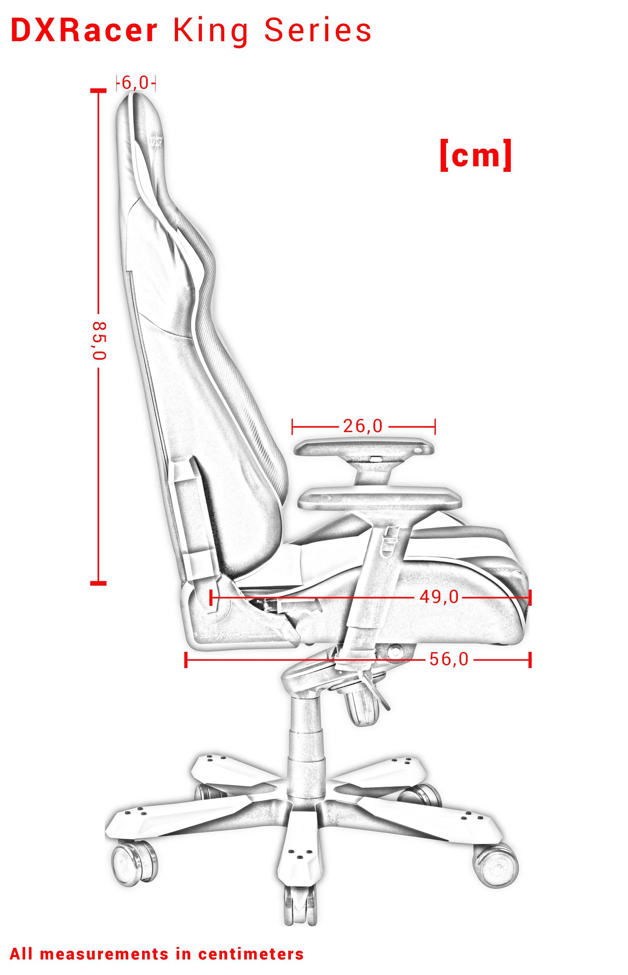 DXRACER KING SERIES K11-NR raudona ergonominė kėdė (Medžiaga + PU)