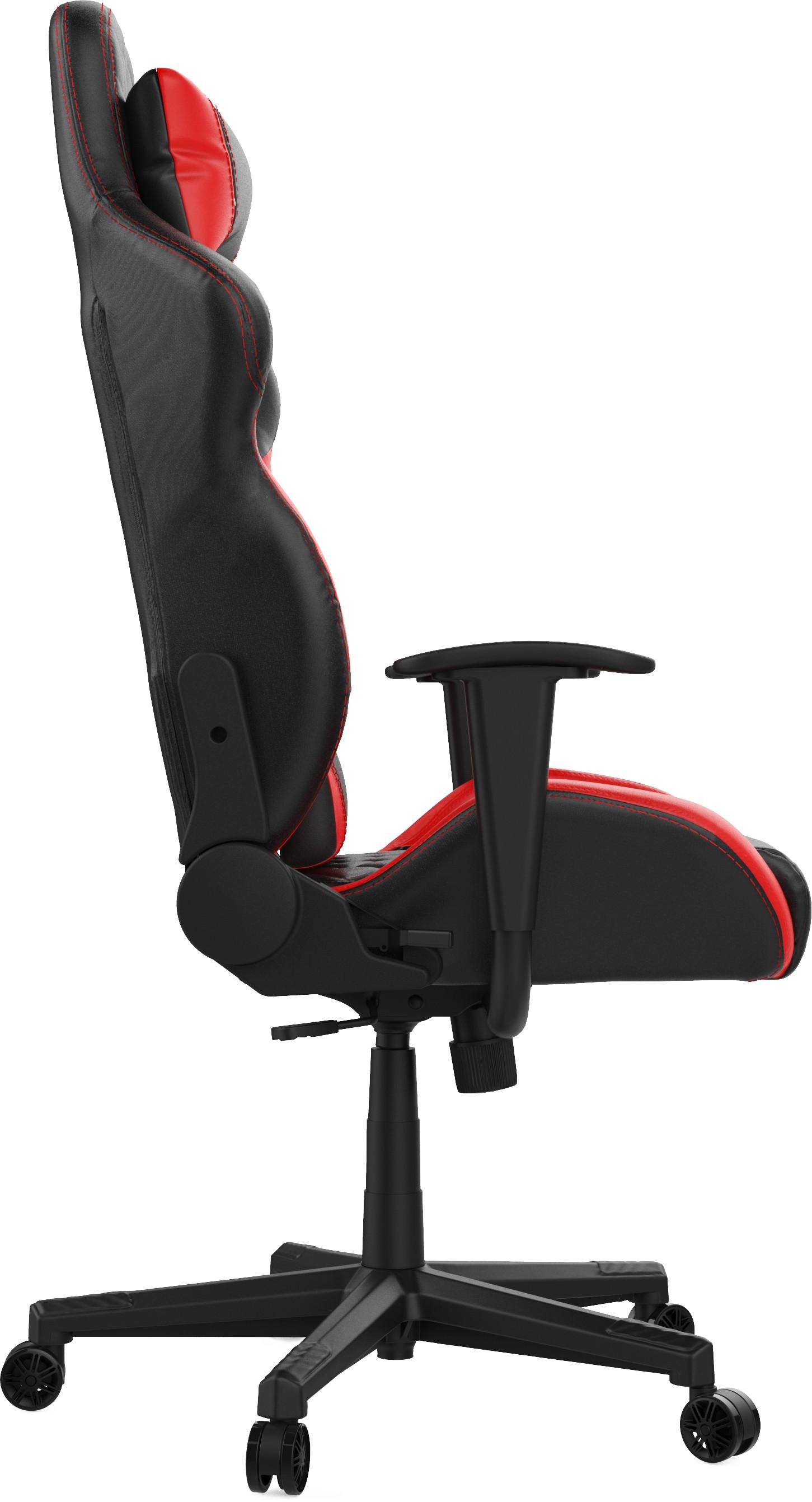 GAMDIAS ZELUS E1 L juoda-raudona ergonominė kėdė