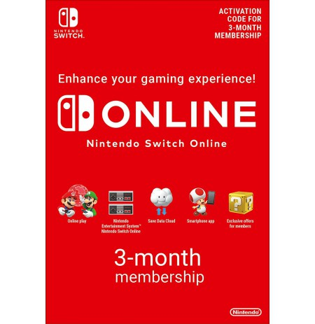 Nintendo Switch ONLINE 3mėn narystė