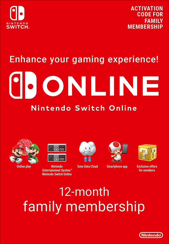 Nintendo Switch  ONLINE šeimos 12mėn narystė