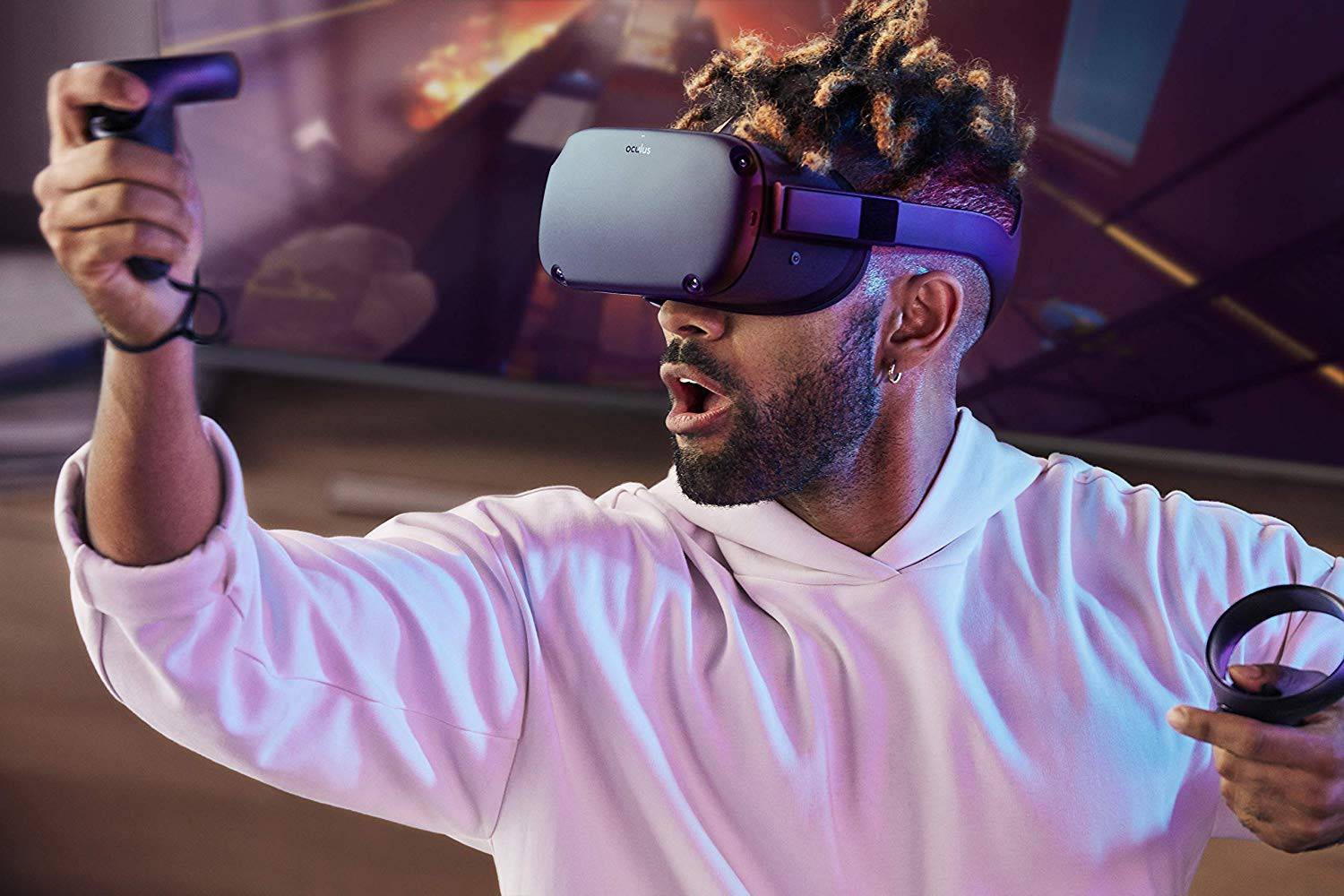 Virtualios realybės akiniai Oculus Quest All-in-one VR – 64GB